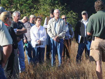 Our first stop of the tour. This site was recently planted, and currently was in two year old Longleaf pines.